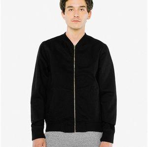 Black denim jacket American apparel unisex